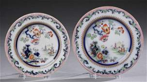 Eleven Pieces of Staffordshire Dinnerware, 19th c., in