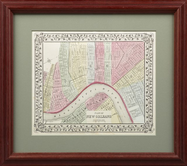 "S. Augustus Mitchell, ""Plan of New Orleans,"" 1872,"