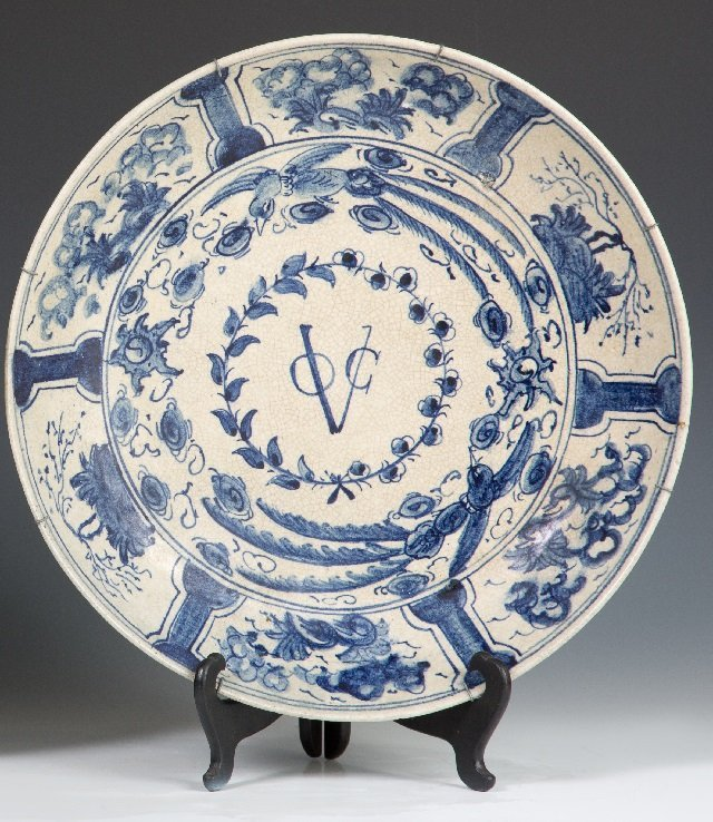 Large Japanese Arita Export Footed Porcelain Bowl, 18th