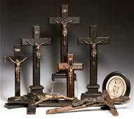 Group of Eight French Religious Items, early 20th c.,