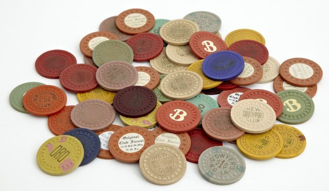 Group of Fifty-Six Vintage New Orleans Poker Chips,