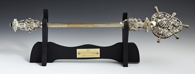 Mardi Gras Queen's Scepter, c. 1970, Hercules, mounted