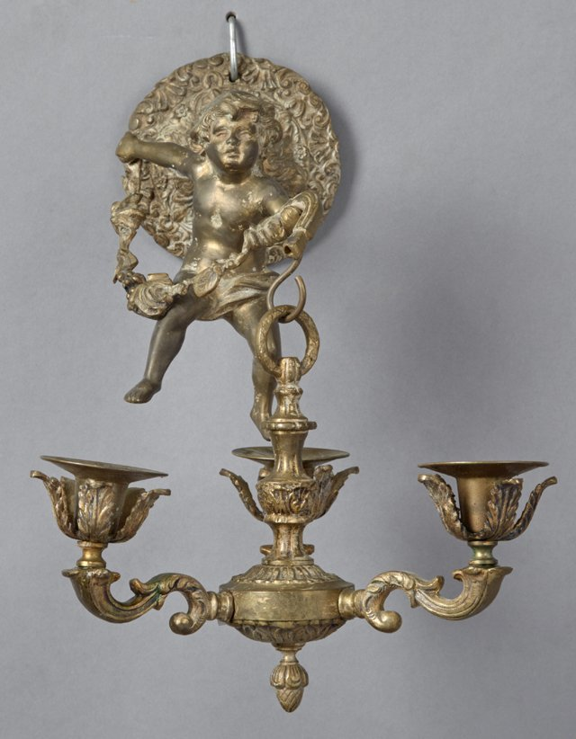 Unusual Louis XV Style Bronze Sconce, 19th c., the