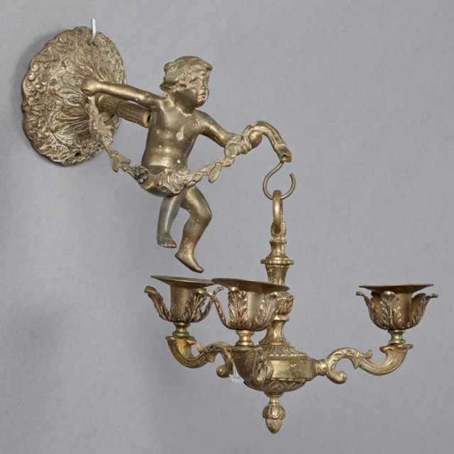 Unusual Louis XV Style Bronze Sconce, 19th c., the - 2