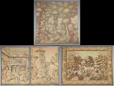 Group of Four French Tapestries, early 20th c., one of