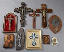 Group of Ten French Religious Items, 20th c.,