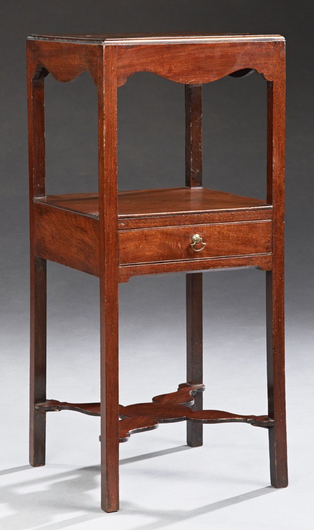 English Carved Mahogany Bowl and Pitcher Stand, 19th