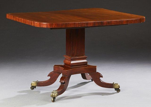 English Victorian Inlaid Mahogany Breakfast Table, 19th