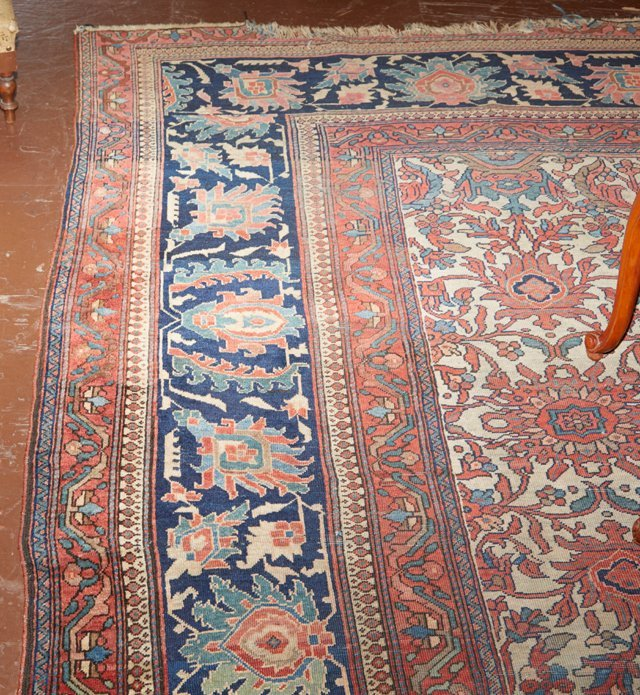 Antique Mahal Carpet, 9' 10 x 14'. Provenance: The Esta - 2