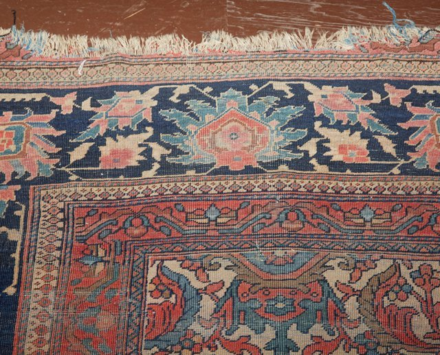 Antique Mahal Carpet, 9' 10 x 14'. Provenance: The Esta - 3