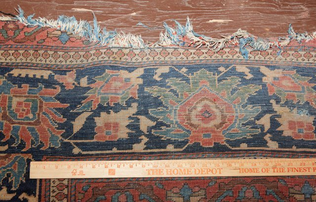 Antique Mahal Carpet, 9' 10 x 14'. Provenance: The Esta - 7
