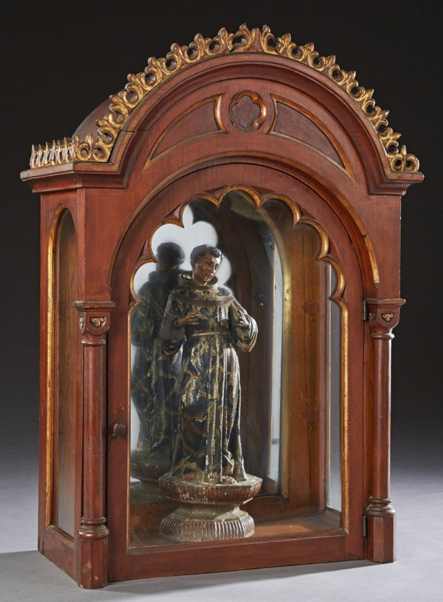 Continental Carved Wooden Santo, 19th c., with original