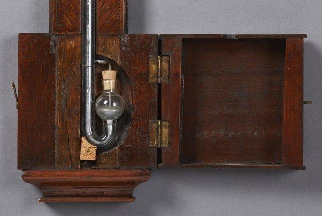 English Inlaid Mahogany Stick Barometer, 19th c., the - 3