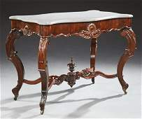 American Victorian Rosewood Grained Marble Top Center