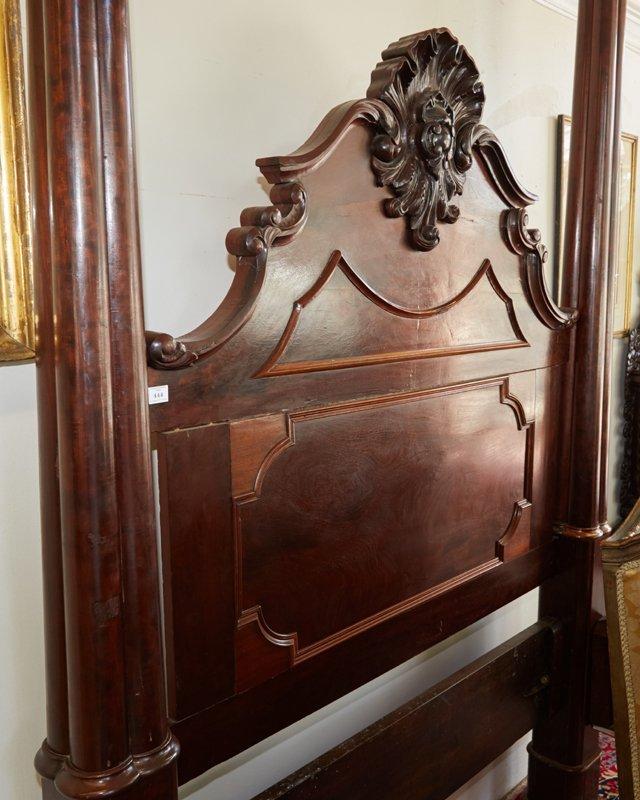 American Rococo Mahogany Full Tester Bed, mid 19th - 3