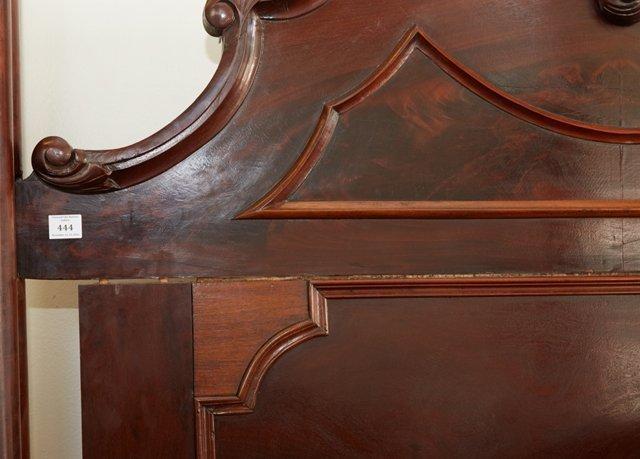 American Rococo Mahogany Full Tester Bed, mid 19th - 4