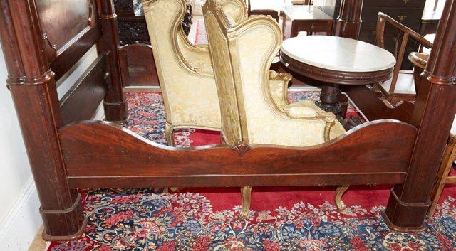 American Rococo Mahogany Full Tester Bed, mid 19th - 7