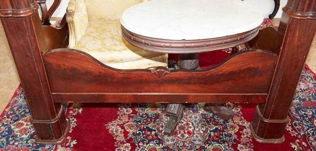 American Rococo Mahogany Full Tester Bed, mid 19th - 9