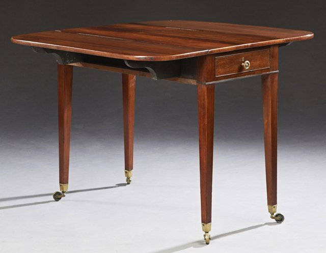 English Carved Mahogany Pembroke Table, 19th c., the - 2