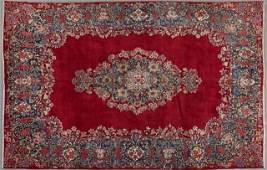 Semi Antique Persian Kirman Carpet 8 9 x 12 6