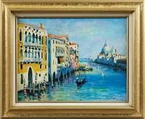 """Nino Pippa (1950- , Italian), """"Venice - The Grand Canal"""