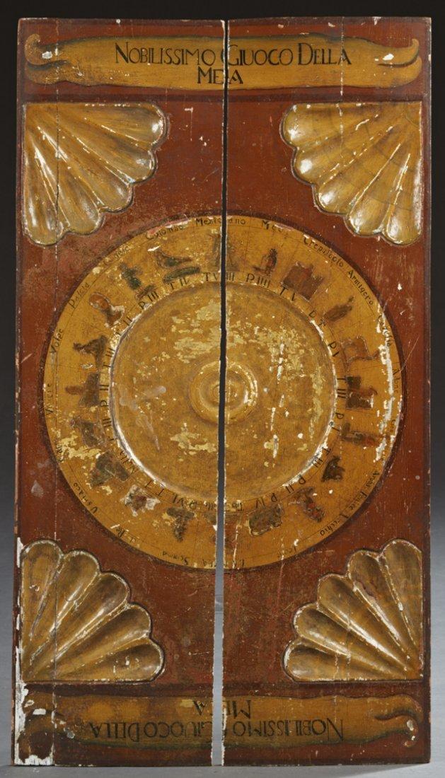 """Italian Game Board, 19th c., """"Nobilissimo Giuoco Della"""