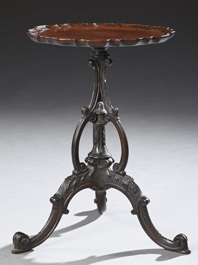 Chippendale Style Carved Mahogany Low Table, early 20th
