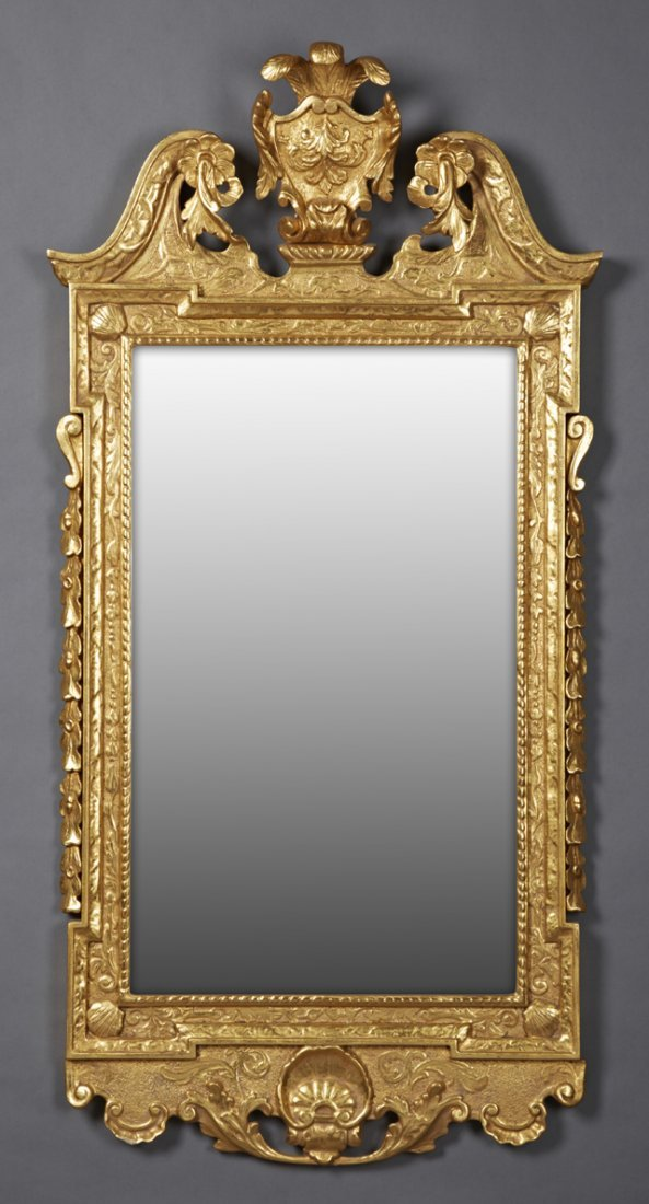 Carved Giltwood Regency Style Overmantel Mirror, 20th