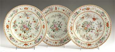 Set of Three Chinese Export Famille Rose Porcelain