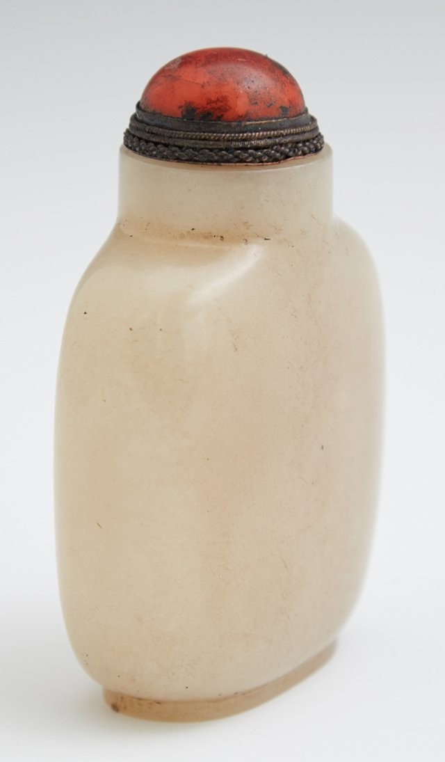 Chinese Carved Jade Snuff Bottle, early 20th c., nicely - 3