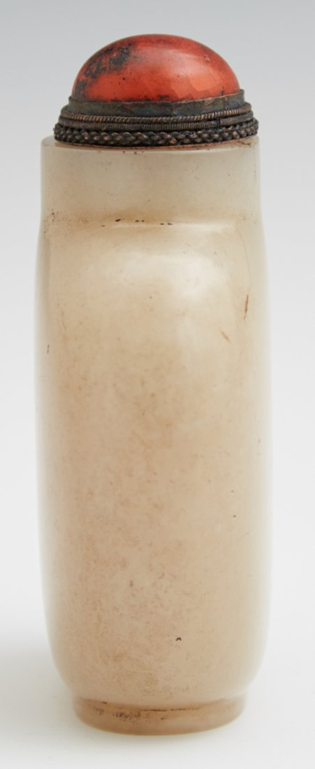 Chinese Carved Jade Snuff Bottle, early 20th c., nicely - 5