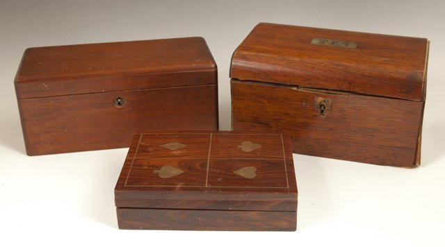 Group of Three English Boxes, 20th c., consisting of a