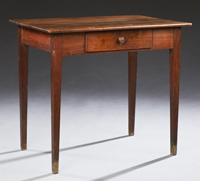 Louis Philippe Carved Walnut Writing Table, 19th c.,