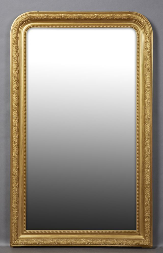Louis Philippe Style Gilt and Gesso Overmantel Mirror,