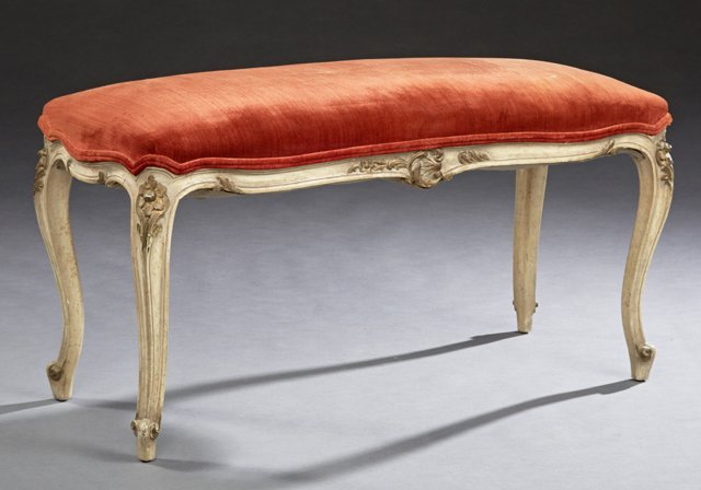 Louis XV Style Polychromed Double Window Seat, early