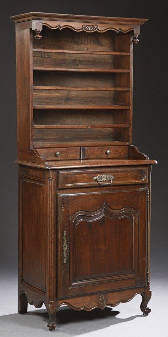 Unusual Louis XV Style Carved Oak Vasselier, early 20th
