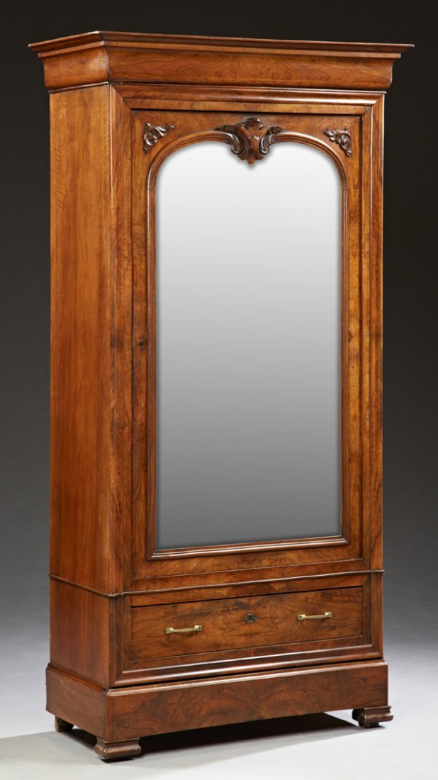French Louis Philippe Single Door Carved Walnut