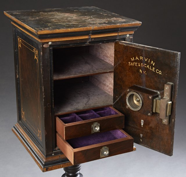 Unusual Diminutive Victorian Iron Safe, c. 1880, by the - 3
