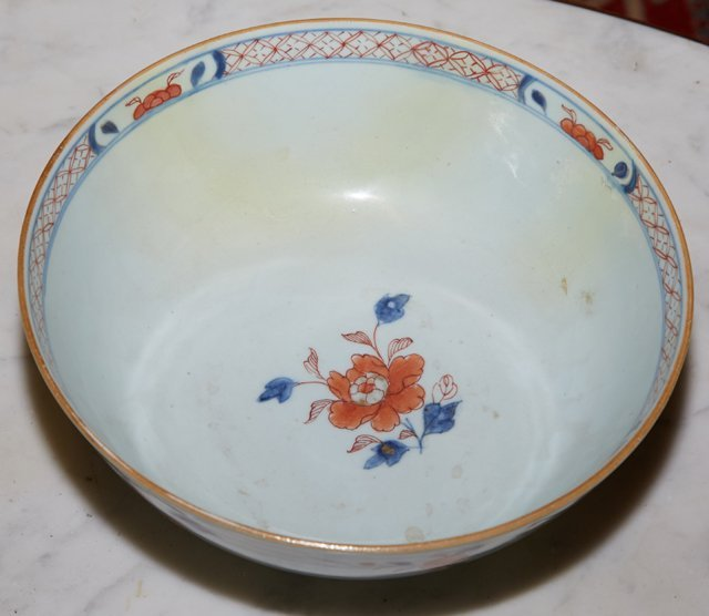 Imari Porcelain Footed Bowl, 19th c., with a floral - 2