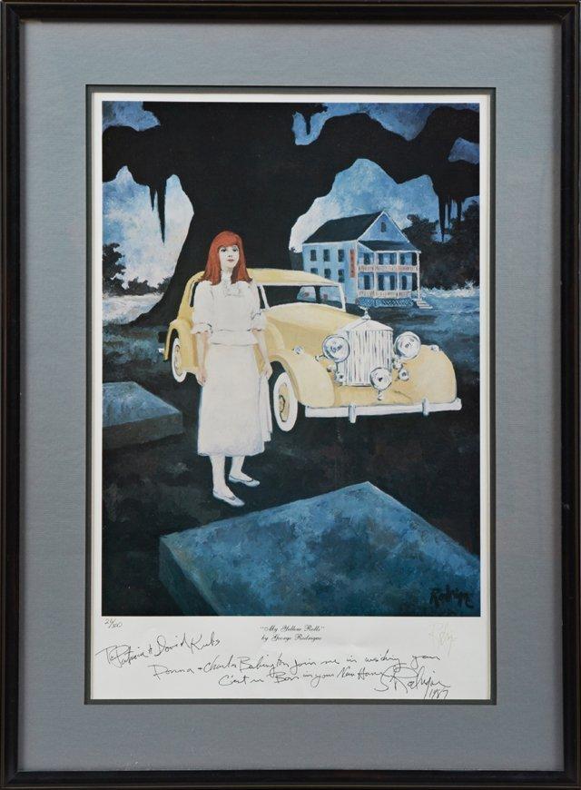 "George Rodrigue (1944-2013), ""My Yellow Rolls Royce,"""
