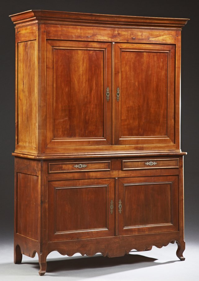 French Louis Philippe Carved Cherry Buffet a Deux