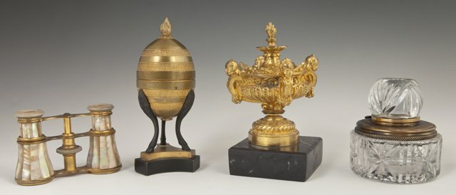 Group of Four Cabinet Items, consisting of a gilt
