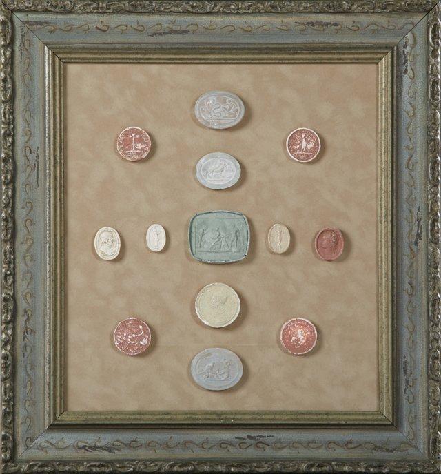 Group of Thirteen Plaster Intaglios, 19th c., Grand