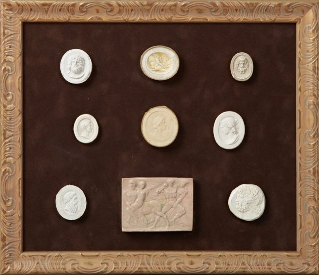 Group of Nine Plaster Intaglios, 19th c., Grand Tour