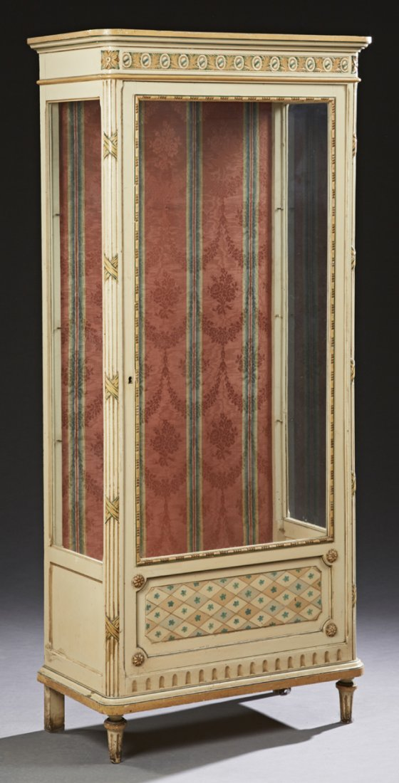 French Polychromed and Gilt Decorated Beech Louis XVI