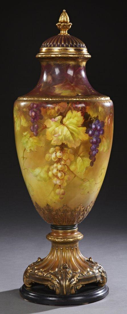 "Large Porcelain Covered Baluster ""Palace"" Urn, 20th c.,"