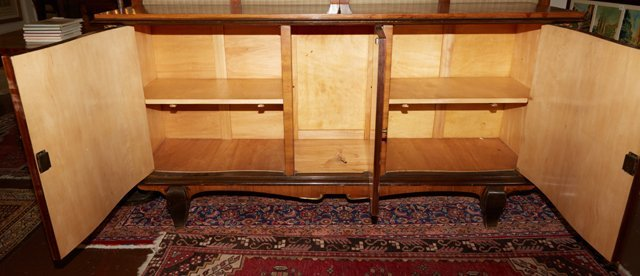 French Carved Mahogany Sideboard, 20th c., with a - 5