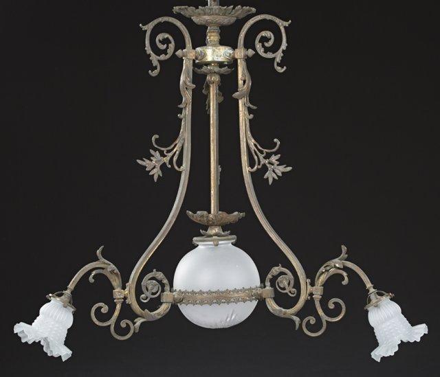 French Gilt Bronze Louis XV Style Four Light