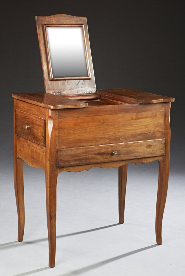 French Louis XV Style Dressing Table, c. 1900, with a