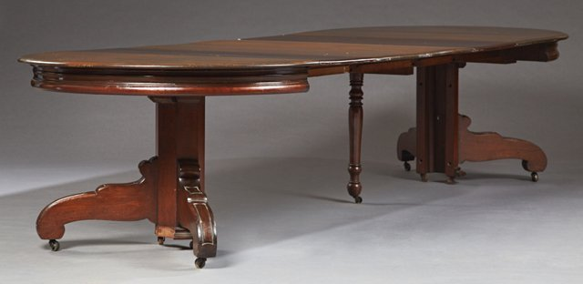 American Carved Mahogany Circular Dining Table, c. - 2
